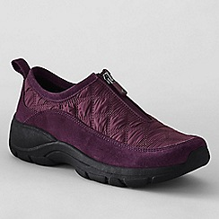 Lands' End - Red women's wide zip-front shoes