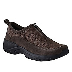 Lands' End - Brown women's wide zip-front shoes