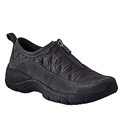 Lands' End - Grey women's wide zip-front shoes