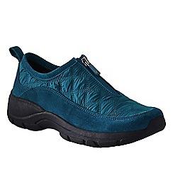 Lands' End - Blue women's wide zip-front shoes