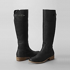 Lands' End - Black women's regular blakeley knee-length riding boots
