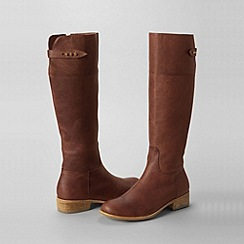 Lands' End - Brown women's regular blakeley knee-length riding boots