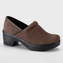 Lands' End - Brown women's camden clog shoes