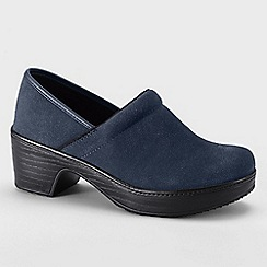 Lands' End - Blue women's wide camden clog shoes