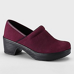 Lands' End - Purple women's wide camden clog shoes