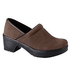 Lands' End - Brown women's wide camden clog shoes