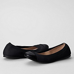 Lands' End - Black women's regular eliza ballet pumps