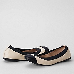 Lands' End - Cream women's regular eliza ballet pumps