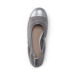 Lands' End - Grey wide eliza ballet pumps