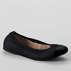 Lands' End - Black women's wide eliza ballet pumps