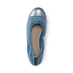 Lands' End - Blue wide eliza ballet pumps