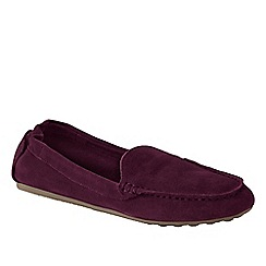 Lands' End - Purple women's wide adie suede loafers