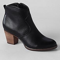 Lands' End - Black women's harris suede ankle boots
