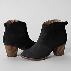 Lands' End - Black women's harris suede ankle boots