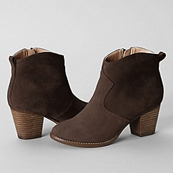 Lands' End - Brown women's harris suede ankle boots