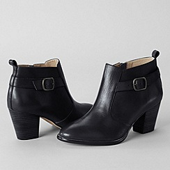 Lands' End - Black women's tory buckle ankle boots