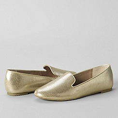 Lands' End - Gold women's regular vivian venetian pumps
