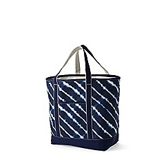 Lands' End - Blue open top print canvas tote