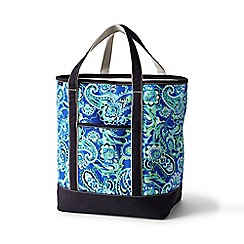 Lands' End - Blue large open top print canvas tote