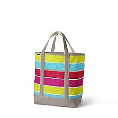 Lands' End - Multi large open top print canvas tote