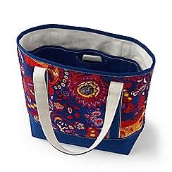Lands' End - Blue print medium open top tote bag