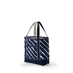 Lands' End - Blue print medium open top tote bag
