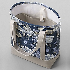 Lands' End - Purple print medium open top tote bag