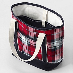 Lands' End - Red print medium open top tote bag
