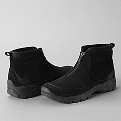 Lands' End - Black men's everyday zip-front boots