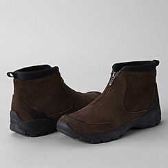 Lands' End - Brown men's everyday zip-front boots
