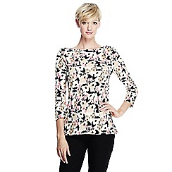 Lands' End - Multi women's 3-quarter sleeve boatneck top