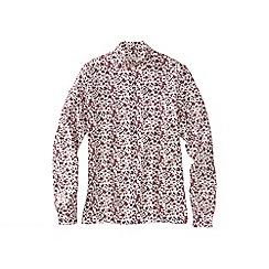 Lands' End - Pink patterned polo neck