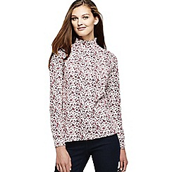 Lands' End - Pink women's patterned polo neck