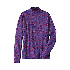 Lands' End - Purple women's patterned polo neck