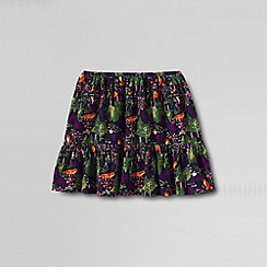 Lands' End - Blue girls' elastic waist cord tiered skirt