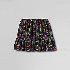 Lands' End - Blue girls' elastic waist cord tiered skirt