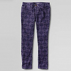 Lands' End - Purple little girls' pencil leg cords