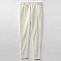 Lands' End - Cream little girls' thermaskin leggings