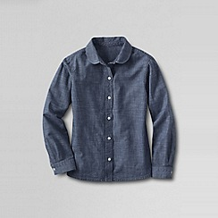 Lands' End - Blue girls' peter pan collar chambray shirt
