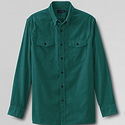 Lands' End - Green men's traditional cord shirt