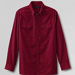 Lands' End - Red men's traditional cord shirt