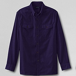 Lands' End - Purple men's traditional cord shirt