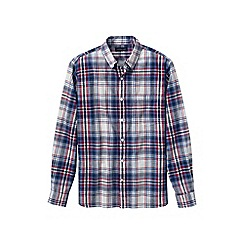 Lands' End - Red men's plaid oxford shirt