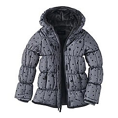 Lands' End - Grey little girls' patterned insulated jacket