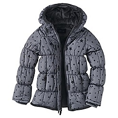 Lands' End - Grey girls' patterned insulated jacket