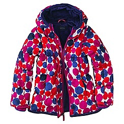 Lands' End - Pink girls' patterned insulated jacket