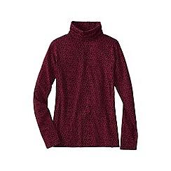 Lands' End - Red women's regular cotton modal roll neck