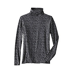 Lands' End - Multi women's petite cotton modal roll neck jumper