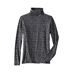 Lands' End - Multi women's plus cotton modal roll neck