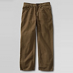 Lands' End - Brown little boys' classic fit iron knee coloured jeans
